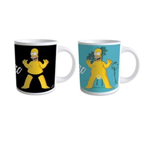 Tazza mug termosensibile The Simpsons, tazza cambia colore versando liquido caldo, materiali sensibili al calore, idee regalo per lui e per lei, oggetti utili, simpatici, insoliti per la casa, lavare a mano
