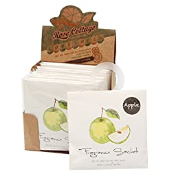 FAMILIFE 12 Packs Portable Scented Sachets for Room, Wardrobe, Bathrooms, Cars, Laundry Baskets (Apple)