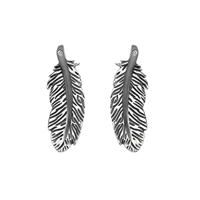 Hot Diamonds Feather Stud Earrings