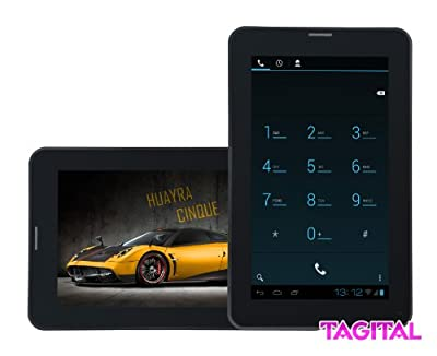 """Tagital® 7"""" Android 4.4 KitKat Bluetooth Phone Tablet GSM Dual Camera Unlocked Play Store Pre-installed by Mtm Trading Llc"""