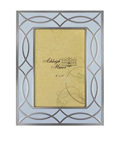 Ashleigh Manor 4″ x 6″ Transitional Gold Overlay Frame, Pale Blue