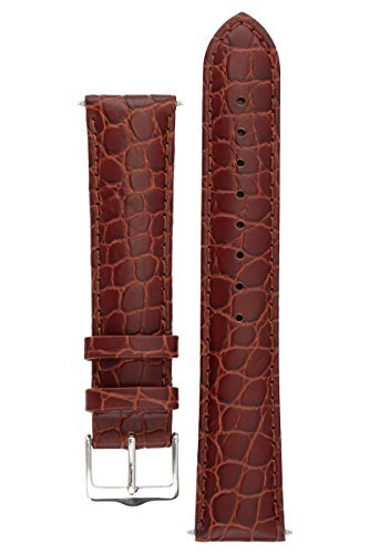 signature-siena-in-coffee-22-mm-watch-band-replacement-watch-strap-genuine-leather-silver-buckle