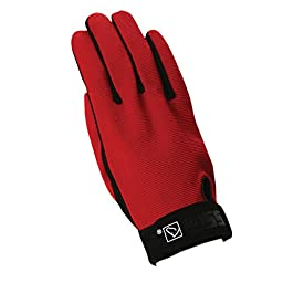 SSG All Weather Riding Gloves Mens Large Red/Black