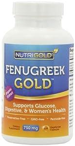 Organic Fenugreek GOLD - 750 mg, 120 Vegetarian Capsules (GMO-free, Preservative-free, Allergen-free Organic Fenugreek Seed Powder in Veg. Capsules for Breastfeeding)