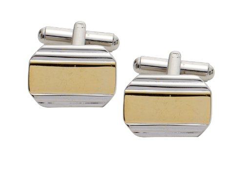 Code Red Imitation Rhodium and Gold Plated Cufflinks