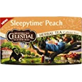 Celestial Seasonings Sleepytime, Peach Herbal Tea 20-Count (Pack of 6)