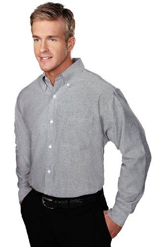 Tri-Mountain Stain Resistant Oxford Dress Shirt - 750 Techno, Dark Gray Xx-Large front-650899
