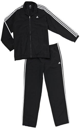 Adidas, Tuta da allenamento Uomo Essentials 3 Stripes, Nero (Black), 44