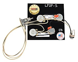 gibson les paul black 3 wiring harness bourns cts switchcraft new