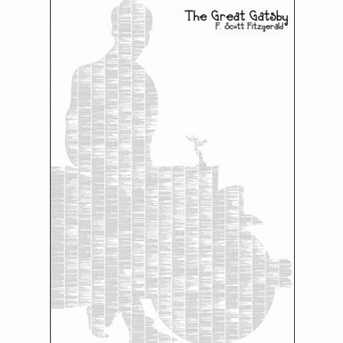 The Great Gatsby'' Text Poster
