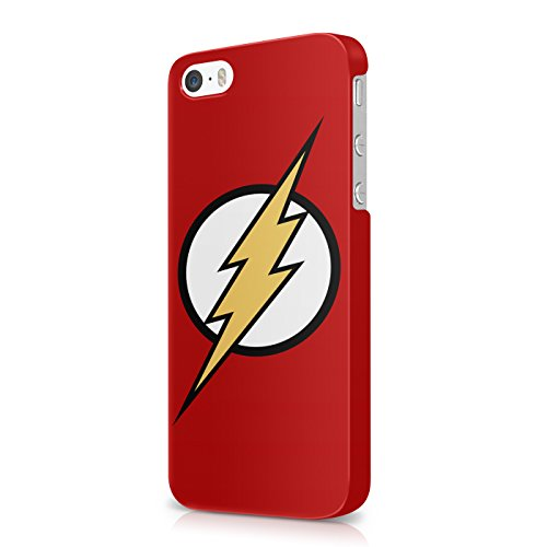 The Flash Logo Justice League Superhero Comics Hard Snap-On Protective Case Cover For Iphone 5 / Iphone 5s