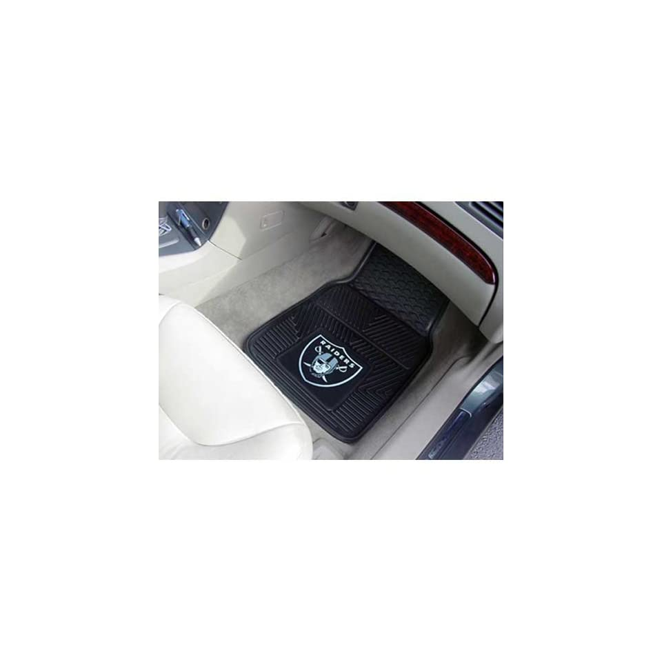 BSS   Oakland Raiders NFL Heavy Duty 2 Piece Vinyl Car Mats (18x27)
