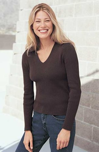 Buy Women's Skinny Rib V-Neck Cashmere Sweater