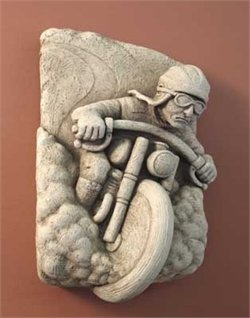 History Of Motorcycles Hand Cast Concrete (Aged Stone)