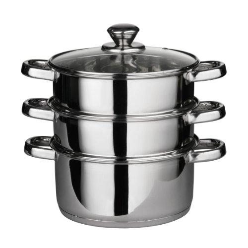 premier-housewares-408129-pentola-a-vapore-con-coperchio-in-vetro-e-capsula-base-acciaio-inossidabil