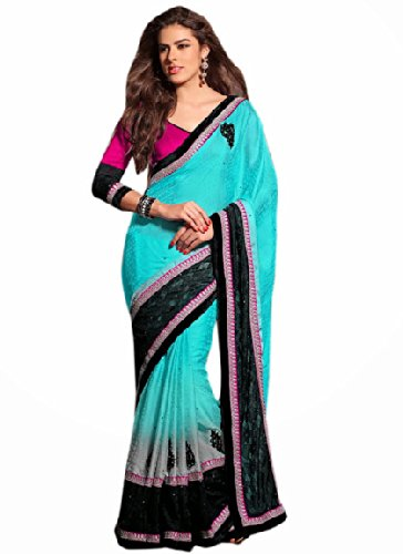 Aasri Women Chiffon Jacquard Wedding Saree with Blouse Piece