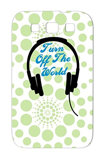 Turnofftheworld 2 Tearproof Music Turn Music Song World Country Hip Off Rock Dj Headphones Dance Electronica The Star Rap Trance Hop Tpu Case For Sumsang Galaxy S3 Navy