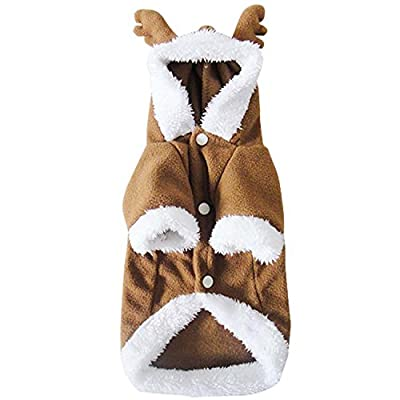 WOLFTEETH Pet Clothes Cat Dog Costumes Cute Clothing Supplies Size S/M/L/XL for Small Dogs Cats