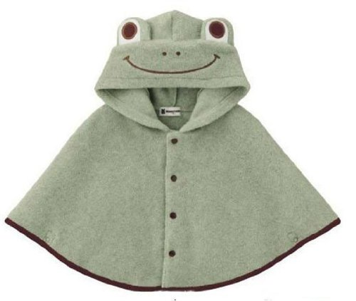 TORTOR 1BACHA Baby Cloak Fashion Baby Kids Warm Frog Hood Cape Coat 100cm