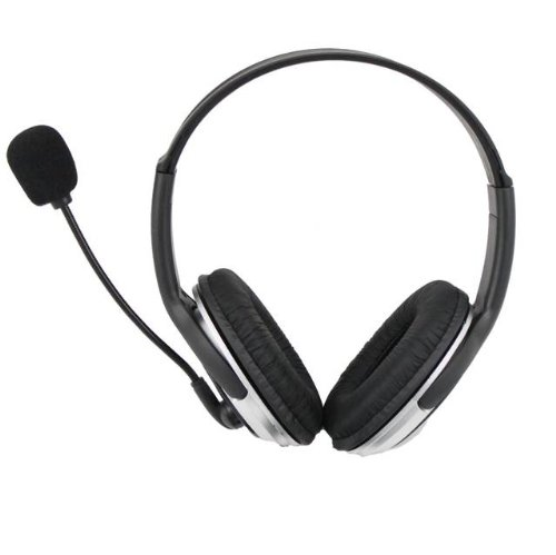 Imicro 100Mw Maximum Power Leather Headset With Microphone Sp-Im168Mv