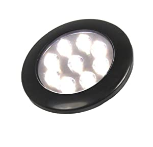 LED Convenience Courtesy Light - White LED Light - Hi / Lo Mode - Compact 12 Volt Fixture Truck, Auto, RV, Aircraft lighting