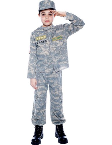Us Army Officer Sm Kids Boys Costume