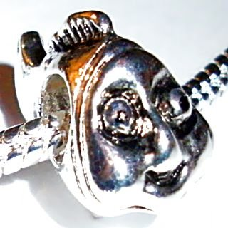 Charm Buddy Silver Plated NEMO CLOWN FISH Charm Bead Fits Pandora Troll European Silver Charm Bracelets