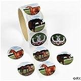 Fun Express 100 Horse Stickers 1 Roll