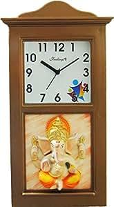 Feelings Café Signature Ganesh Wall clock with glass