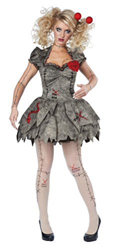 [POPLife Creepy Pins Needles Voodoo Outfit Halloween Rag Doll Costume Adult Women] (Voodoo Doll Costume Child)