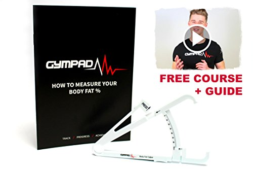 Body Fat Calipers with FREE Guide and Online Video Course for Males and Females