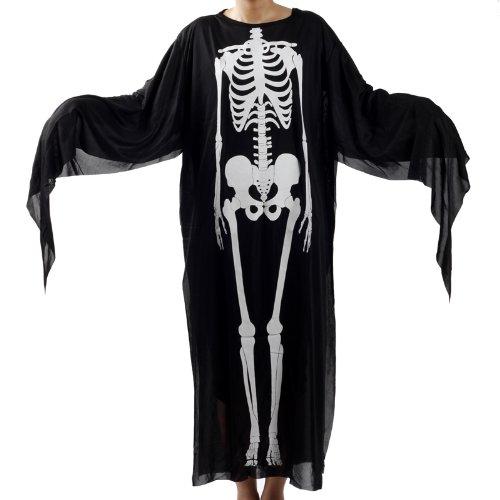 スケルトンゴースト マント 大人用 ハロウィン グッズ Halloween 幽霊 仮装アイテム ハロウィンコスプレ衣装・道具 ガイコツになって皆をビックリさせよう!