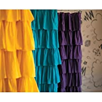 Ruffled Shower Curtain Color: Golden Yellow
