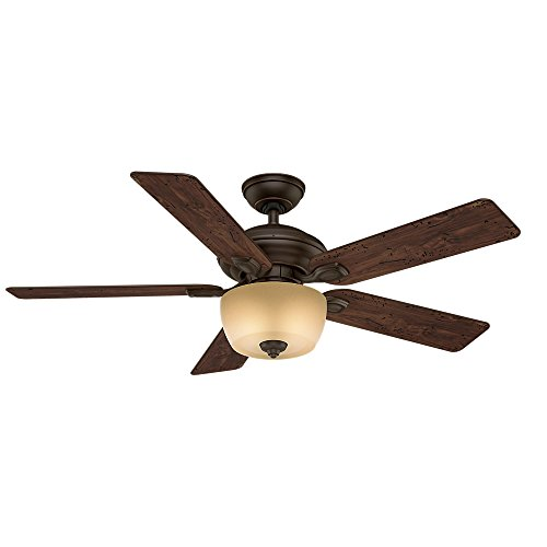 Casablanca 54039 Utopian Gallery 52-Inch 5-Blade Single Light ETL Rated Ceiling Fan, Brushed Cocoa with Antique Halifax Blades and Tea Stain Glass Bowl Light (Casablanca Utopian Ceiling Fan compare prices)