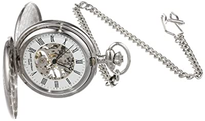 Charles-Hubert Pocket Watch 3575-W Chrome Plated Double Hunter