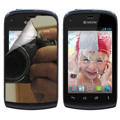 Coveron® Mirror Transparent Lcd Screen Protector Shield For Kyocera C5170 Hydro Boost Mobile [Wcb1092]