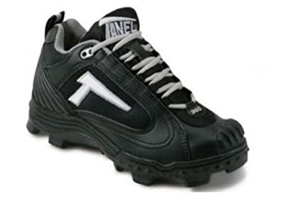 Buy Tanel 360 REV-D Low Cut Cleats with Pitcher's Toe. All Black. by Tanel 360