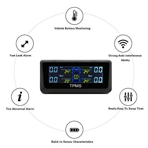 RAXFLY-TPMS-Sistema-Monitor-Pressione-Pneumatico-da-Auto-LCD-Schermo-Presa-Accendisigari-con-4-Sensore-Digitale-Solare-35-Bar-Sicurezza-Guida-per-Auto