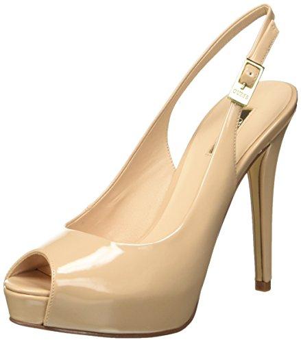 Guess Patent Pu Scarpe con tacco, Donna, Beige (Nude), 36