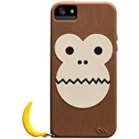 Case-Mate 日本正規品 iPhone5s / 5 CREATURES: Bubbles Monkey Case, Brown クリーチャーズ: バブルス モンキー&バナナ シリコン ケース, ブラウン CM022446...