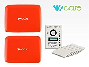 WoCase Double Floaty(2/pack) and Anti-fog Inserts(10/Pack) Bundle for GoPro HERO3 3+ 2 1 Cameras