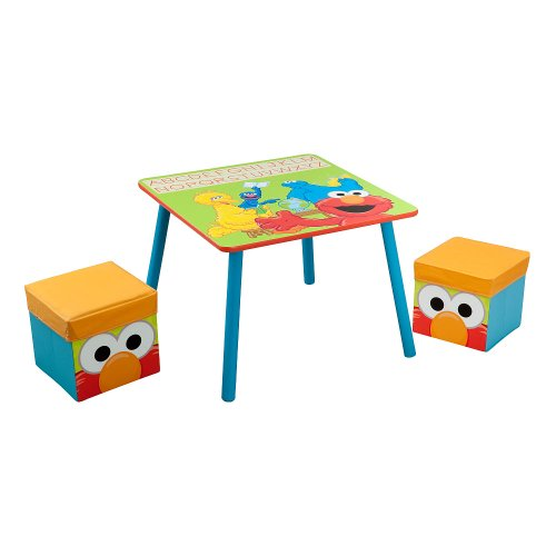 Sesame Street Table And Ottoman Set Furniture Baby Toddler