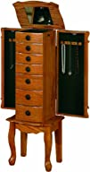 Coaster Traditional Jewelry Armoire Oak