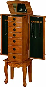 Coaster Traditional Jewelry Armoire, Oak