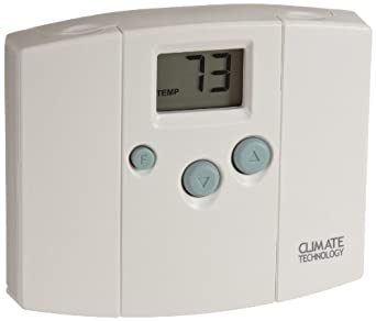 Supco 43054 Electronic Digital Wall Thermostats with Blue Back Light, 45 to 95 Degree F, 20-30 VAC