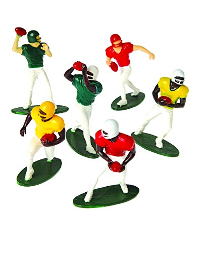 "US Toy -Football Players Toy Figures, Set of 12 (Six Assorted Poses), 2.5"" - 1"