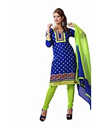 AASRI Party Wear Cotton Embroidered 3 Piece Unstitched Salwar Suit 6004
