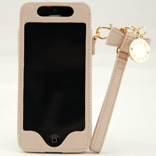Great Sale Klogi Genuine Leather Case for iPhone 5 - Beige/White