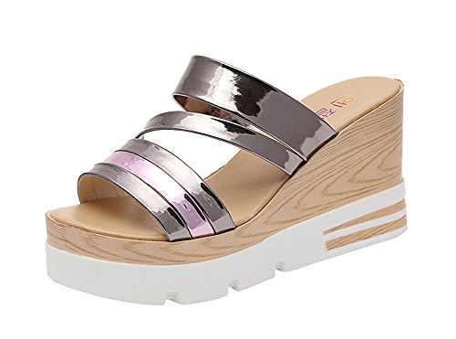 T&Grade Women Fashion Peep Toe Platform Wedge Beach Sandals