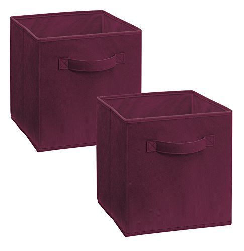 ClosetMaid 11513 Cubeicals Fabric Drawer, Cabernet/Burgundy, 2-Pack